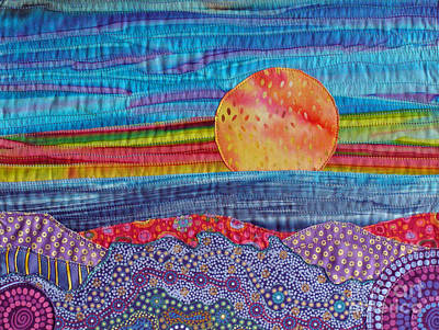 Tapestry - Textile - Spring Sunset by Susan Rienzo
