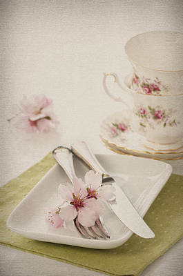 Spring Table Setting Art Print by Amanda Elwell