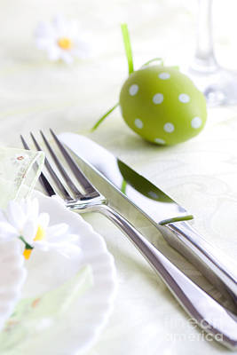 Banquet Photograph - Spring Table Setting by Mythja  Photography