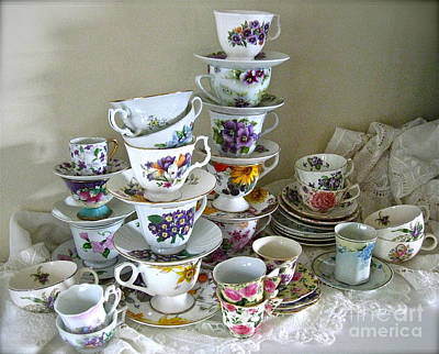 Photograph - Spring Tea Cups  by Nancy Patterson