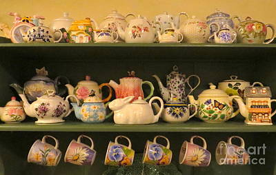 Photograph - Spring Teapots  by Nancy Patterson