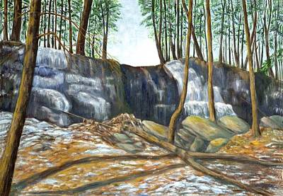Painting - Spring Thaw In The Ravine by Jeanne Kay Juhos