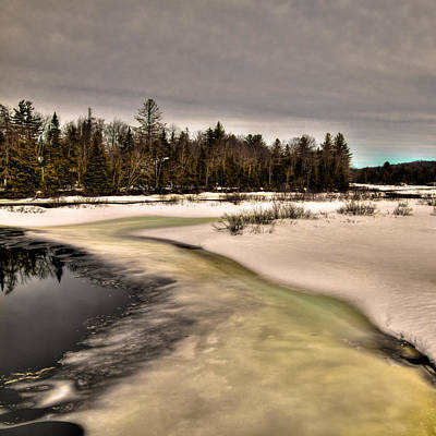 Photograph - Spring Thaw On The Moose River  by David Patterson