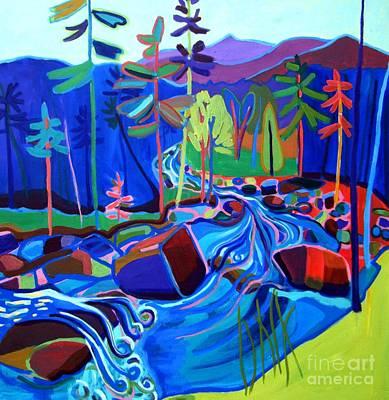 Painting - Spring Thaw Wildcat River Jackson Nh by Debra Bretton Robinson