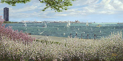 Yacht Club Painting - Spring Tidings by Doug Kreuger