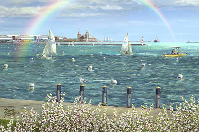 Chicago Reflections Painting - Spring Tidings II by Doug Kreuger