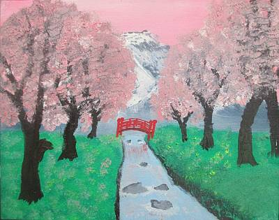 Ashley River Painting - Spring Time In Japan by Ashley Davis