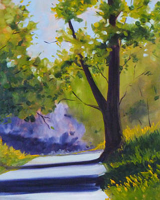Outdoor Scene Painting - Spring Trail by Nancy Merkle