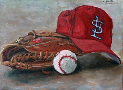 Spring Training  Art Print by Nora Sallows