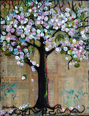 Trees Blossom Painting - Spring Tree  by Blenda Studio