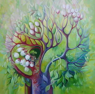 Fantasy Tree Art Painting - Spring Tree by Elena Oleniuc