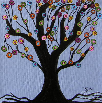 Tree Roots Painting - Spring Tree by Marcia Weller-Wenbert