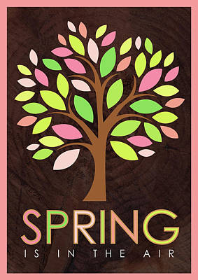 Spring Painting - Spring Tree by Tammy Apple