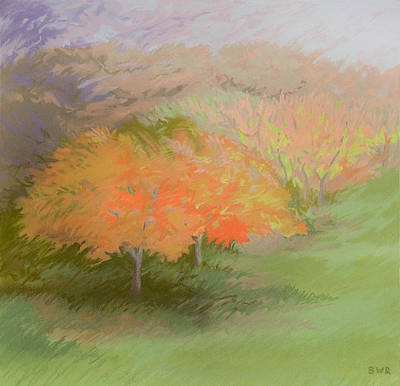 Pastel - Spring Trees by Bruce Richardson