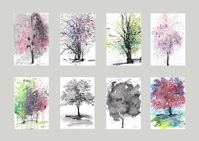 Millbury Painting - Spring Trees by Sumiyo Toribe