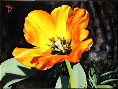 Art Print featuring the painting Spring Tulip by Glenn Beasley