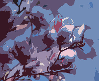 Spring Tulip Tree Abstract Art Print