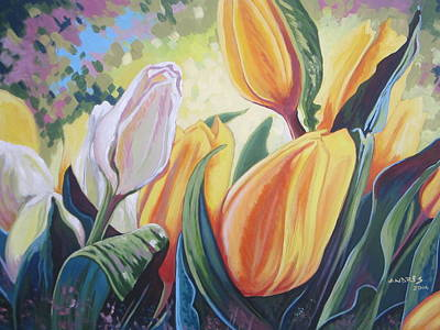 Painting - Spring Tulips by Andrei Attila Mezei