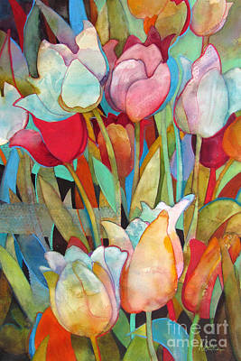 Gouache Painting - Spring Tulips-emergence by Wendy Westlake