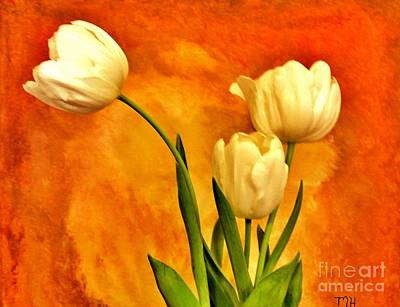 Wrap Digital Art - Spring Tulips by Marsha Heiken