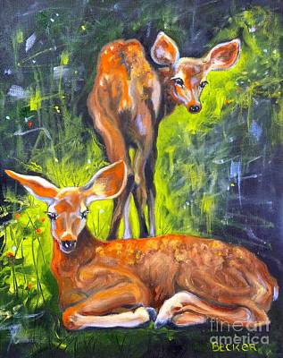 Spring Twins 1 Art Print by Susan A Becker