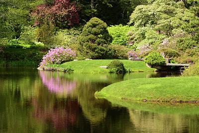 Garden Flowers Photograph - Spring View Of Azaleas In A Japanese by Darlyne A. Murawski