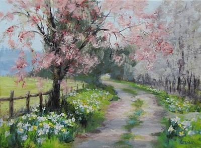 Painting - Spring Walk by Karen Ilari