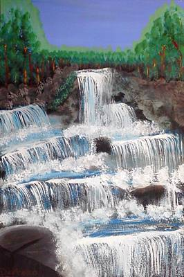 Painting - Spring Waterfall by Carol Duarte