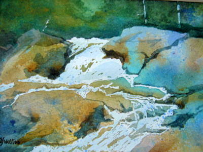 Painting - Spring Waterfall by Judy Fischer Walton