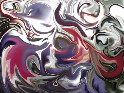 Digital Art - Spring Winds by Jen Sparks