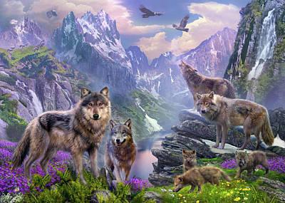 Spring Wolves Art Print by Jan Patrik Krasny