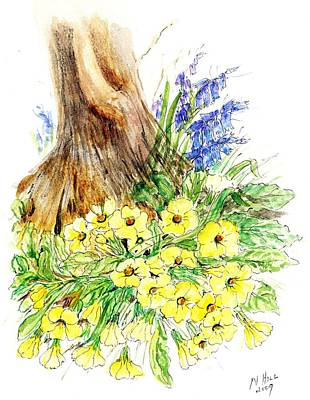 Garden Drawing - Spring Woodland  by Nell Hill