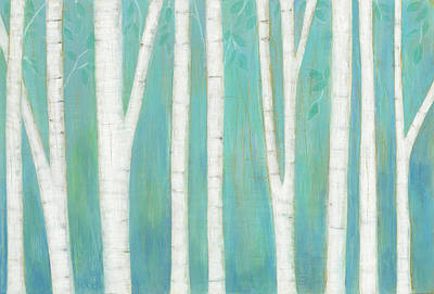 Contemporary Forest Painting - Spring Woods by Melissa Averinos