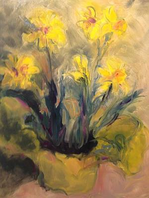Painting - Spring Yellow by Karen Carmean