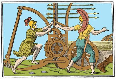Springald, Ancient Roman Warfare Art Print by Science Source