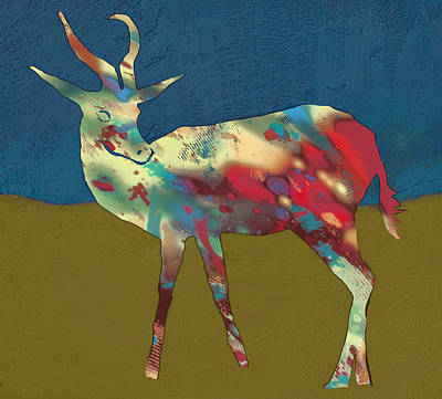 Pop Art Drawing - Springbok Wild Animal Stylised Pop Art Drawing Potrait Poster by Kim Wang