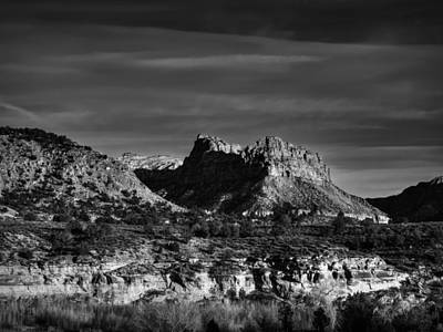 Photograph - Springdale Utah 001 Bw by Lance Vaughn