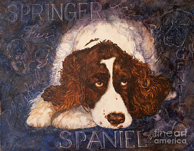 Painting - Springer Spaniel - Best Friend by Sher Sester