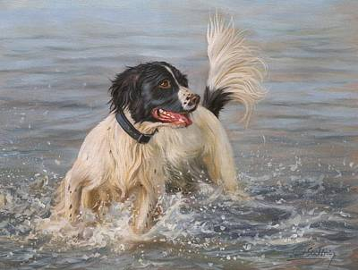 Springer Spaniel Art Print by David Stribbling