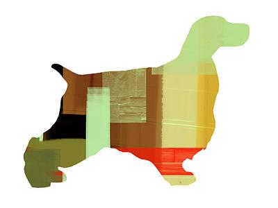 Puppy Mixed Media - Springer Spaniel  by Naxart Studio
