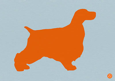Springer Spaniel Orange Art Print by Naxart Studio