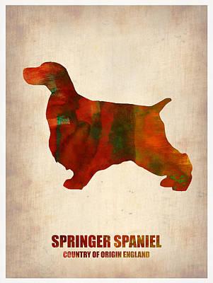 Springer Spaniel Painting - Springer Spaniel Poster by Naxart Studio