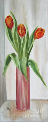 Springflowers Painting - Springflowers by Christiane Schulze Art And Photography
