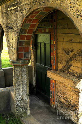 Mercer Tile Photograph - Springhouse Door At Fonthill  by Addie Hocynec