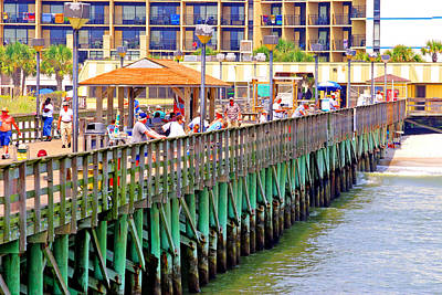 Photograph - Springmaid Beach Pier 2006 by Joseph C Hinson Photography