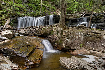 Photograph - Spring's Arrival At Delaware Falls by Gene Walls