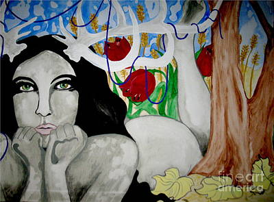 Sexual Human Nature Painting - Springs Bloom by Amy Sorrell