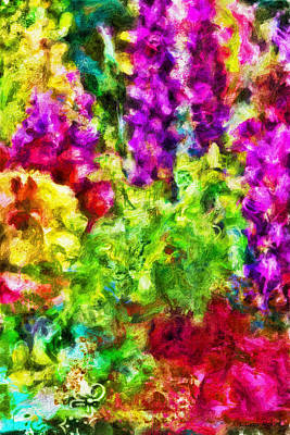 Vivid Colour Painting - Springs Embrace by Jo-Anne Gazo-McKim
