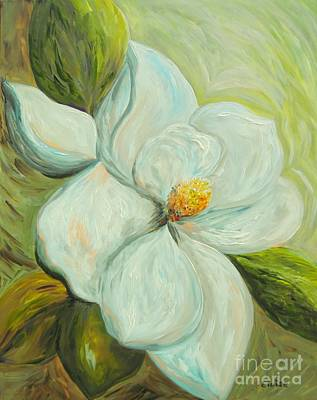 Living Room Art Painting - Spring's First Magnolia 2 by Eloise Schneider