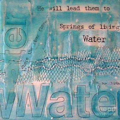 Springs Of Living Water Art Print by Jocelyn Friis